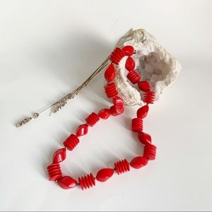 Fashion Beaded Red Necklace